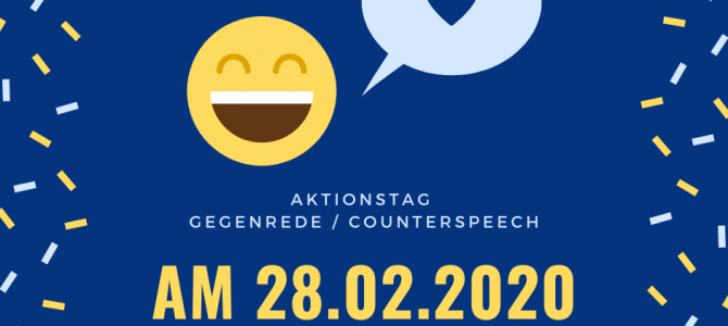 (Deutsch) Workshoptag zum Thema Counter Speech am 28.02.2020